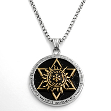 New opening discount Stainless steel Men Women Sun Jewelry Solomon Hexagram Star Of David Vintage Mens Necklace Six Star Pendant(China)