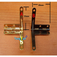 Fast Shipping In Stock 50pcs 31*33mm Wooden box hinge for table folding table hinges small metal hinge