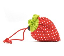 H1343 Hot price Sale Cute Foldable Red Strawberry Shopping Bag promotional Shopper FREE SHIPPING DROP SHIPPING WHOLESALE 0.05
