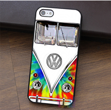 Cover Trendy Tie Dye VW Bus Design fashion cell phone case for iphone 4 4s 5 5s 5c SE 6 6s 6 plus 6s plus 7 7plus &qq64