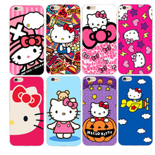 Cute Hello Kitty Phone cases For iPhone 5S SE 5 5C 6 6S 7 7Plus capa  solt TPU Transparent case for 6 6S fundas