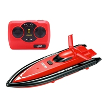 4 Color RC Boats 2.4G 2CH 1:10 Scale Mini Boat Toy Bath Tub Toys Automatic MODE2 Boat with Transmitter Kids Brithday Xmas Gifts(China)