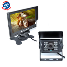 "Factory Selling 18 IR Reverse Camera  NEW 7"" LCD Monitor Car Rear View Kit car camera BUS And Truck parking sensor 15M Or 20M"