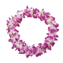 Home Decor Party Beach Tropical Flower Necklace Hawaiian Luau Petal Leis Festival Party Decorations Wedding Supplies 1PC