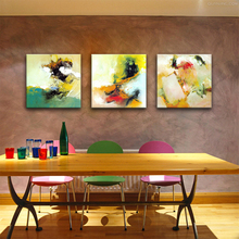 3 Panels Abstract Wall Art Painting Abstract Watercolor Canvas Paintings with Wooden Framed Artwork For Home Decoration as Gifts
