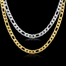Hiphop Vintage Choker Gold Color Necklace Men Women Jewelry 7MM Mens Gold Chain Bijoux Stamp Stainless Steel Chain Necklaces