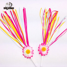 Children Bicycle Handlebar Colorful Ribbon Streamers Tassels Colorful Streamer for Kids Bike Bicycle Accessories