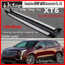 Running board side step bar footplate Treadplate for XT5,guarantee product,best aluminum alloy, promotion price