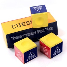 Cuesoul Free Shipping 3 pcs/set Billiard Cue Chalk Yellow Color Snooker Pool Cue Chalk for Billiard Accessories