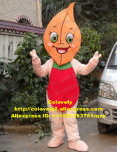 Buy Attractive Orange Tea Leaf Foliage Leafage Mascot Costume Cartoon Character Mascotte Green Bright Eyes Red Bellyband ZZ1679 FS for $219.00 in AliExpress store