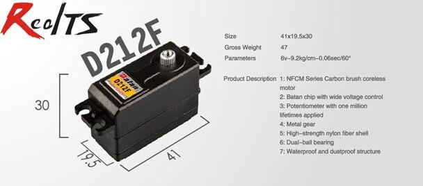 RealTS One piece Batan D212F 9.2kg dual ball bearing digital metal gear coreless servo for rc car rc boat rc airplane<br>