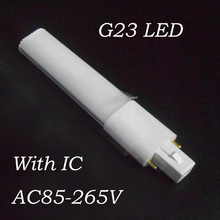 G23 LED bulb 4W 6W 8W 10W tube lights SMD 2835 G23 LED lamp AC85-265V Epistar chip g23 led light tube PL lamp 110V 220V 230V(China)