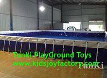 Newest type adult big plastic swimming pools, hard plastic swimming pools, rectangular metal