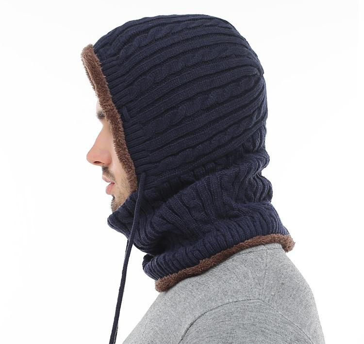 قبعة و وشاح رجالي دافئ 5