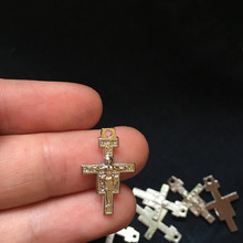50 pcs mini charms Catholic Religious Gifts St. Saint Francis Assisi San Damiano Tau Cross Crucifix crosses charm for bracelet