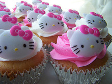 1 pcs 16 even Hello Kitty Shape 3D silicone Cake Mold, Fondant Cake Mould, Jello, Soap, Sugar, Candy, Birthday Cake Mould