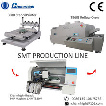 SMT Production Line 3040 Stencil Printer/ 4 heads CHMT530P4 Pick and Place Machine/ T960E Reflow Oven, Small Batch Production