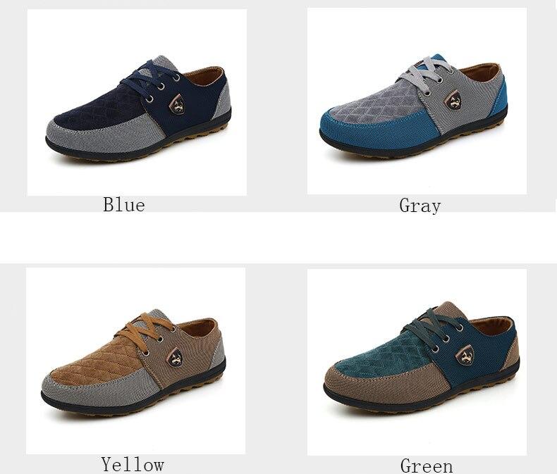 18 Fashion Canvas Shoes Men Casual Shoes Summer Breathable Yellow Comfortbale Espadrilles Sneakers Men Flats Shoes Big Size 3