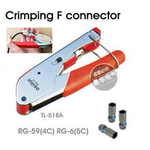 Freeshipping crimping F connector Crimper for Coaxial RG6 RG59 F BNC RCA Coax Cable