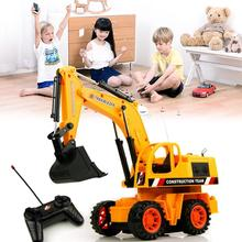25cm 1PCS RC Excavator Electric Remote Control Constructing Truck Crawler Digger Model Electronic Engineering Truck RC Toy(China)