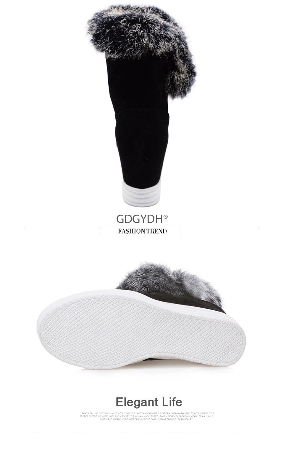 warm fur winter shoes women waterproof snow boots