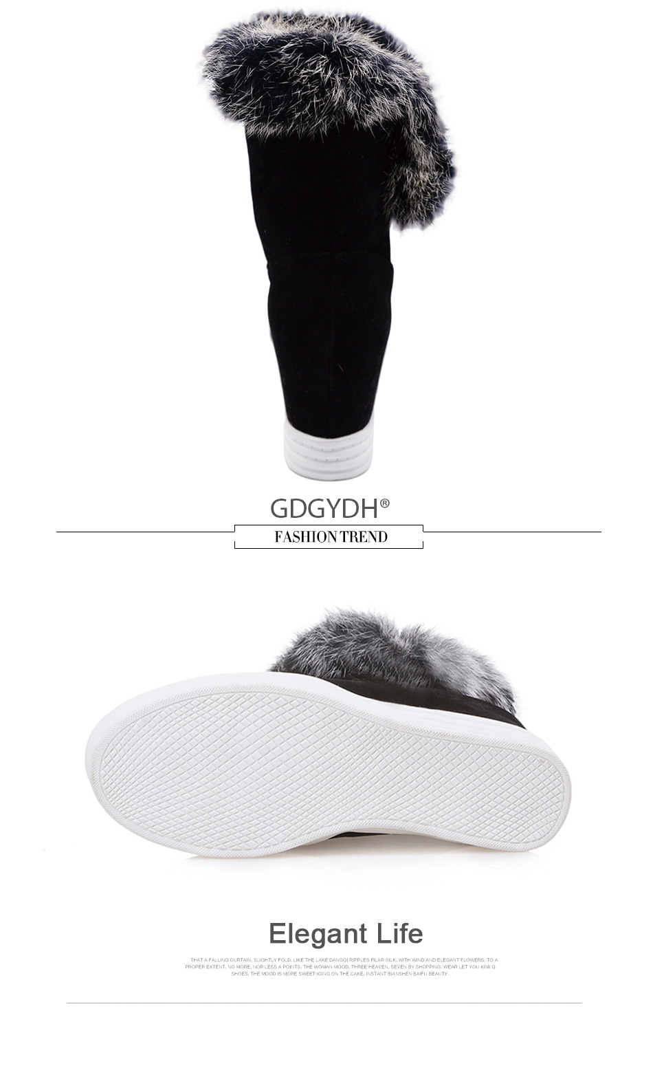 warm fur winter shoes women waterproof snow boots