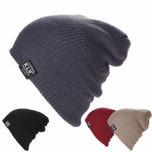 KLV Women Winter Skull Men Knit Beanie Baggy Woolen Cap Winter Warm Unisex Chic Hat Beige/Deep Gray/Black/Red