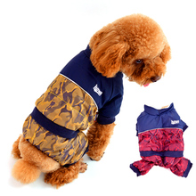 New Military Dog Clothes Camouflage Uniform Winter Pet Jackets Clothing For Puppy Small Big XXL Animals Yorkshire Dachshund(China)