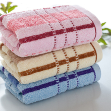 High Quality Face Towel Bath Thick Absorbent Soft Cotton Hand Towel Travel Beach Towels Color Stripes Washcloth V2786(China)