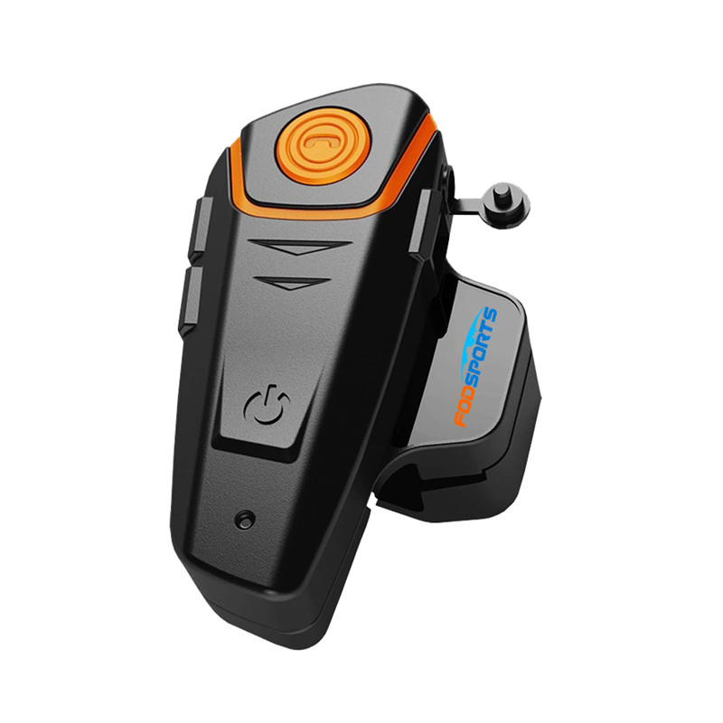 Fodsports BT-S2 Motorcycle Helmet Headset wireless Bluetooth Intercom Interphone Headphone Handfree with FM Radio waterproof