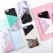 UVR TPU Stitching marble Pattern Phone cases For Iphone 6 6s 7 7 plus 5s case Mobile phone case back covering Dust plug fundas