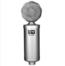 Hot sale KFW Silver SK-500 computer recording capacitor microphone microphones computer recording cover songs skype chat network(China)