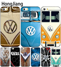 HongJiang VOLKSWAGEN VW Mini Bus cell phone Cover case for iphone 6 4 4s 5 5s SE 5c 6 6s 7 8 plus case for iphone 7 X(China)