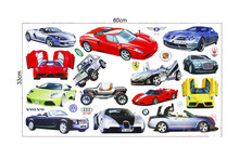 wholesale 100 Sheets /lot bubble stickers jdm on laptop sticker  Cartoon car Toys for kids  wholesale car wall stickers