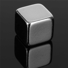 5pcs 10x10x10mm N50 Cube Block Magnets Permenent Neodymium Rare Earth Magnets Super Strong Fridge 10mmx10mmx10mm Magnet Hot(China)