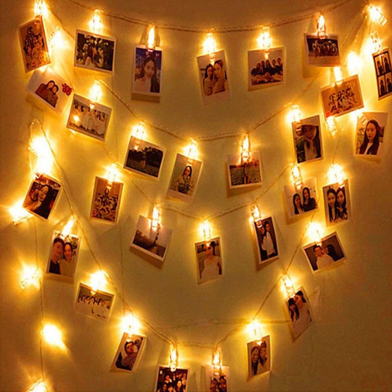 10 LED Metal Light String Lamp Wedding Festival Garland Party Home Decoration
