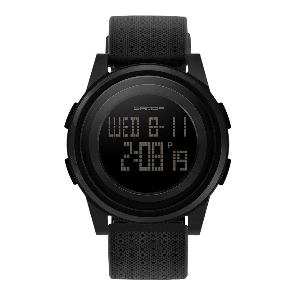 SANDA Fashion Women Sports Watches Waterproof 30m Ladies Ultra Thin LED Digital Watch Swimming Diving Hand Clock Montre Femme 28