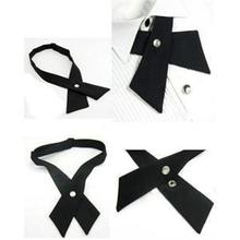 crossover solid color black butterfly bow tie knot bowtie men's necktie women's neck ties ascot cravat(China)