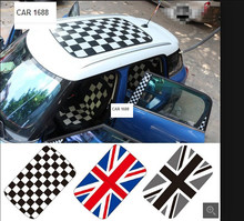 FOR Mini cooper R55 R56 R57 R58 R61 R60 F56 F55 car stickers AUTO roof sticker accessories special size does not need to cut