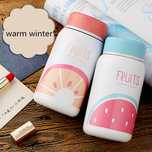 TECHOME 2017 New Creative Cartoon Thermos Cup Bottle Stainless Steel Thermocup Vacuum Thermal Mug 280ml/350ml Funny Gift