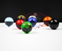 Free Shipping 8 Colors Mixed and Match 30mm Nature Quartz Crystal Glass Ball Home Fengshui Decor