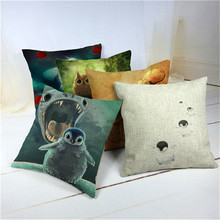 Top Sale Support Animal Series Textiles Carp Octopus Shark Sofa Fundas 45Cmx45Cm Square Top Leather Sofa Printing Pillow Cover(China)