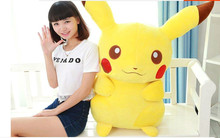 New Hot 39'' / 100cm Lovely Stuffed Soft Plush Giant Cartoon Anime Pikachu Toy, Nice Gift, Free Shipping(China)
