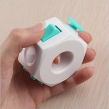 2017 5 Colours Magic Ring Cube Fidget Cube Desk Toy Anti-stress Plastic Funny Christmas Gift Stress Reliever Finger Toy