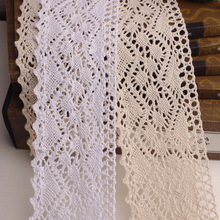 10 Yayd/Lot  8cm  Diy Handmade Clothes Accessories Lace Trim Embroidery Gauze Laciness Fabric RS541