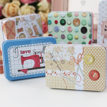 New Arrival Tin Box Tea Box Cookies Container 4 Piece/Lot Candy Pill Jewelry Case Needle And Thread Storage Box Organizer