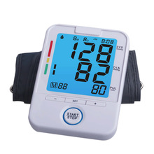 2017  Heart Pulse BP Monitor Digital LCD Screen Arm Type Blood Pressure Monitor Drop Shipping