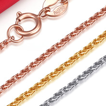 18k Gold Women Necklace For Pendant Female Diamond-jewelry Rope Chain Party Trendy Hot Sale Elegant Fashion Girl Gift Good Nice(China)
