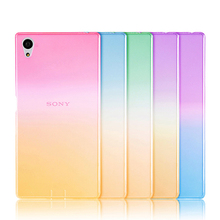 Colorful Gradient Soft Silicone TPU Case For Sony Xperia Z5 M4 M5 Aqua Dual Cases Anti-Scratch Full Body Skin Phone Cover Capa(China)