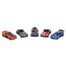 5 Pieces/Set Racing Car Models Kit 1:64 Scale Alloy Kids Children Car Pull Back Car Model Toy Gift Set(China)